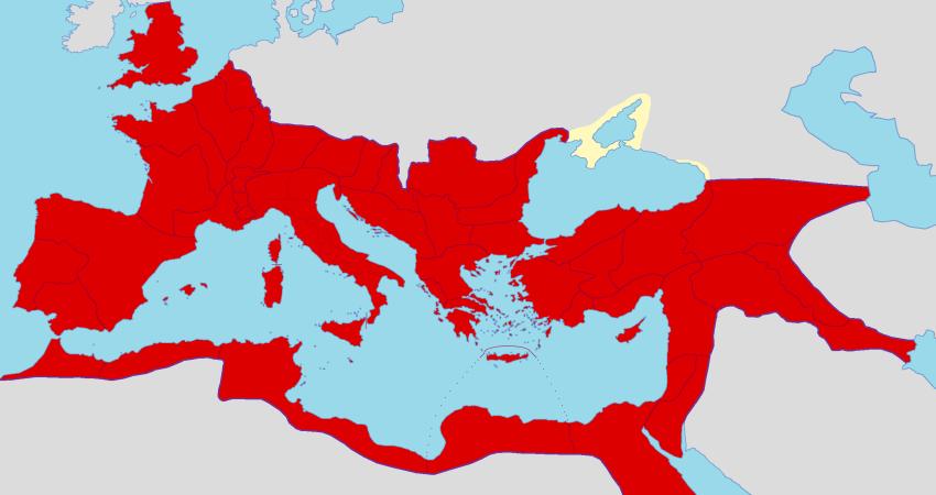 Harta e shtrirjes se Perandorise Romake